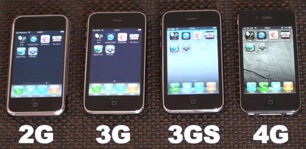 تعريف الايفون و خصائص اصداراته حتى الى 4g