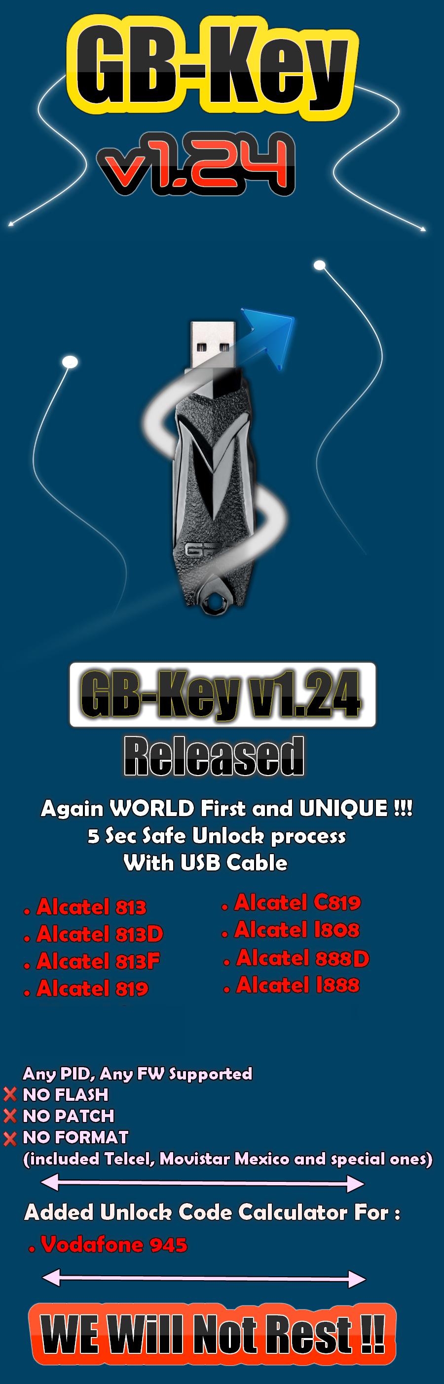 GB-Key 1.24 Released, Alcatel, vodafone