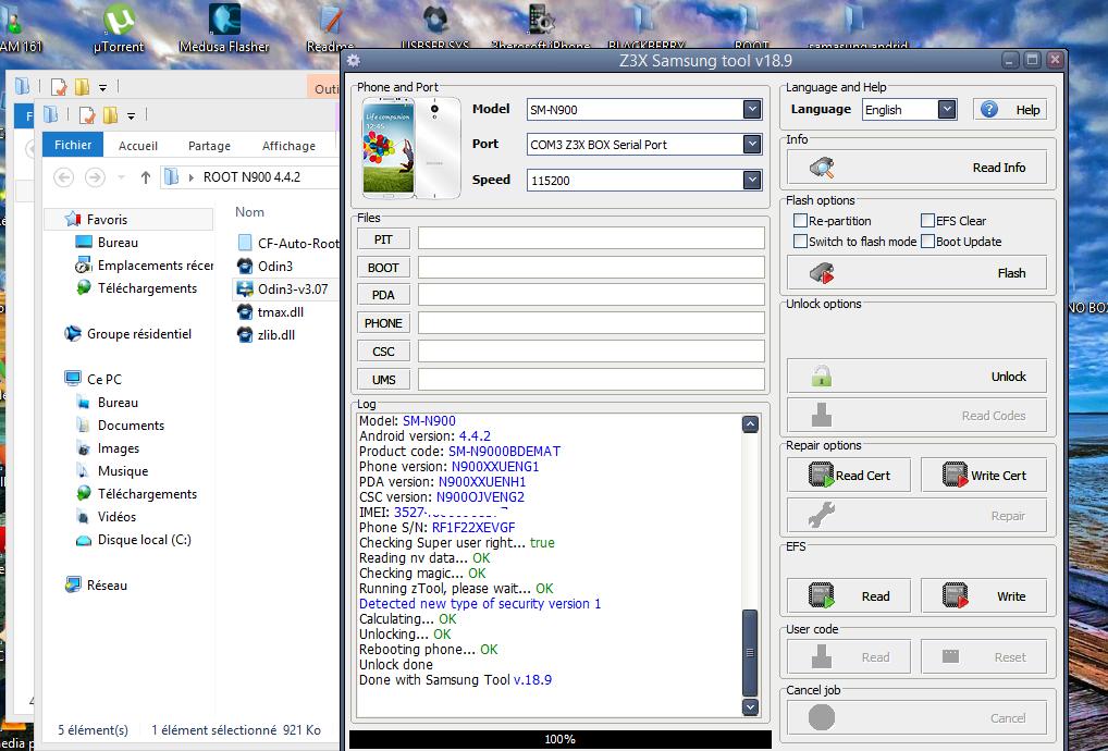 فك شفرة Samsung NOTE 3 SM-N900
