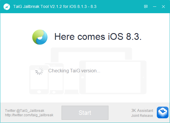 تحديث برنامج TaiG Jailbreak Tool V2.1.2 لمن يعاني من مشكلة التوقف 20%
