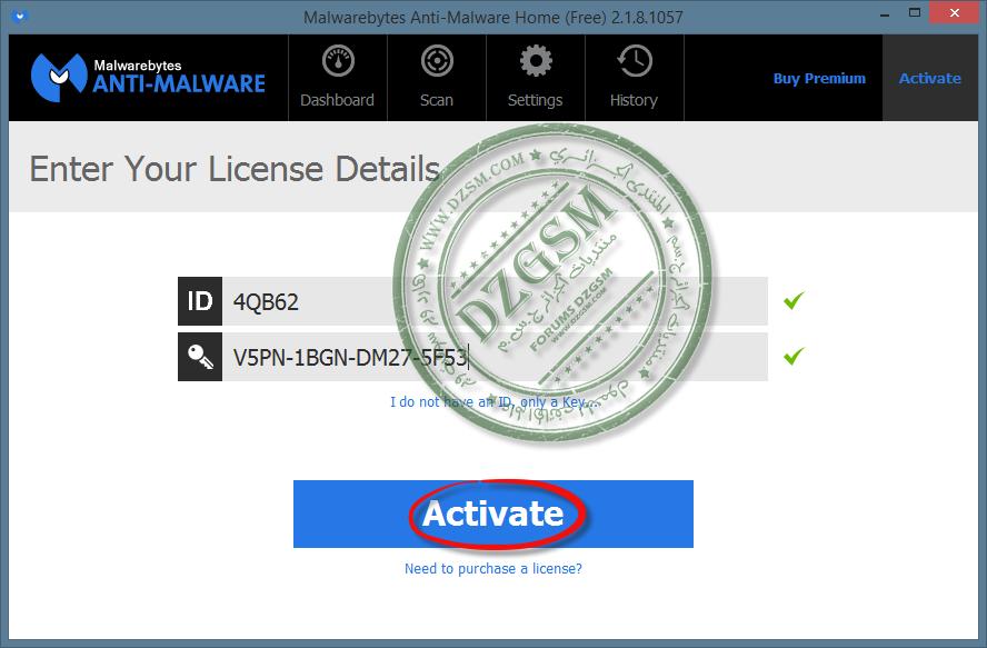 Malwarebytes Anti-Malware Premium 2.1.8.1057