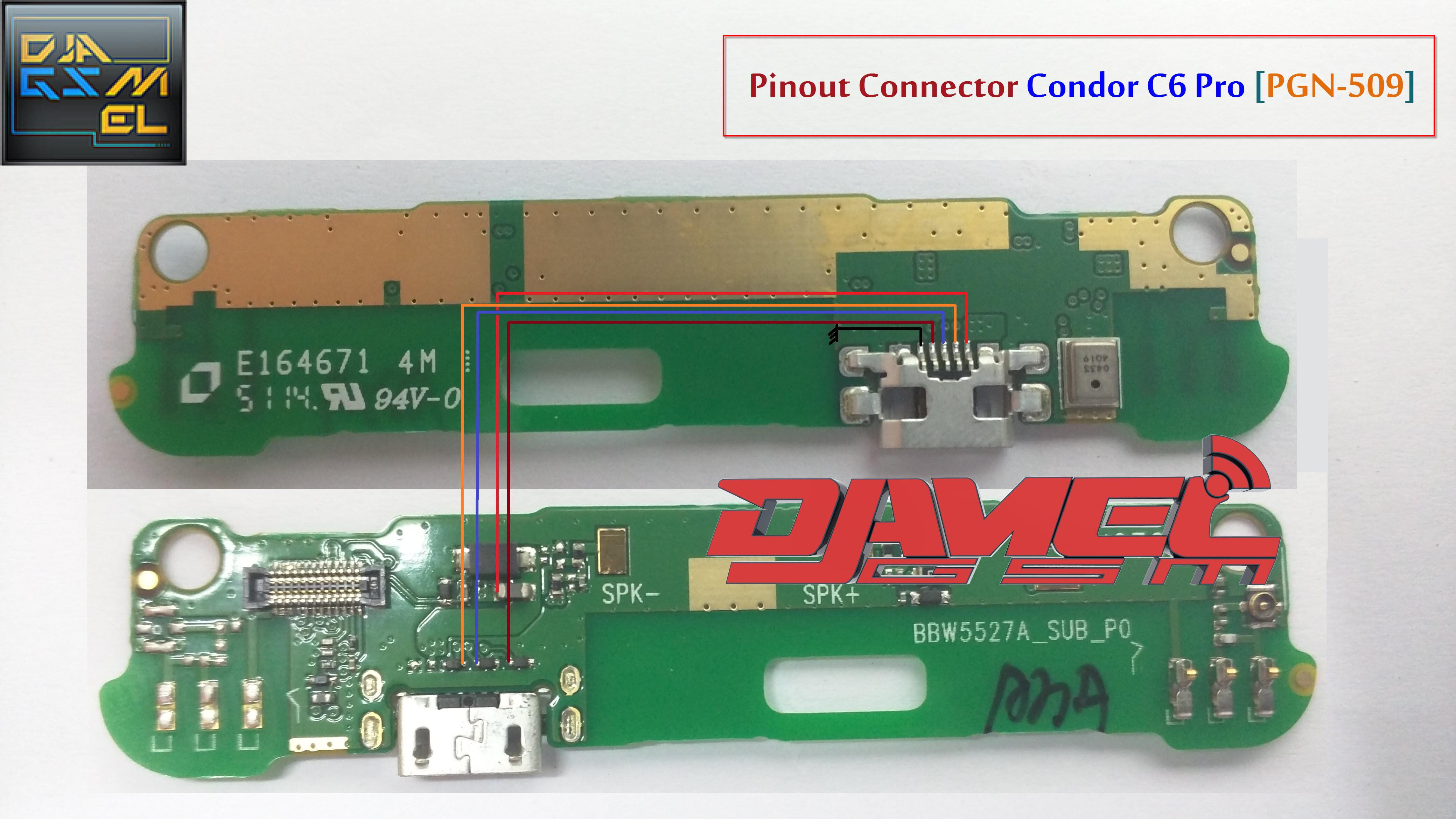 Pinout Connector C6 Pro PGN-509