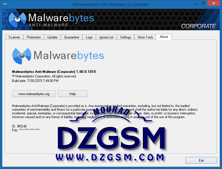 Malwarebytes Anti-Malware Corporate 1.80.0.1010
