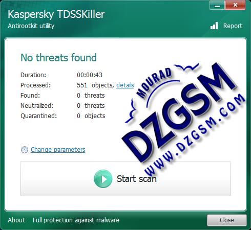 أداة Antirootkit TDSSKILLER من شركة كاسبرسكي