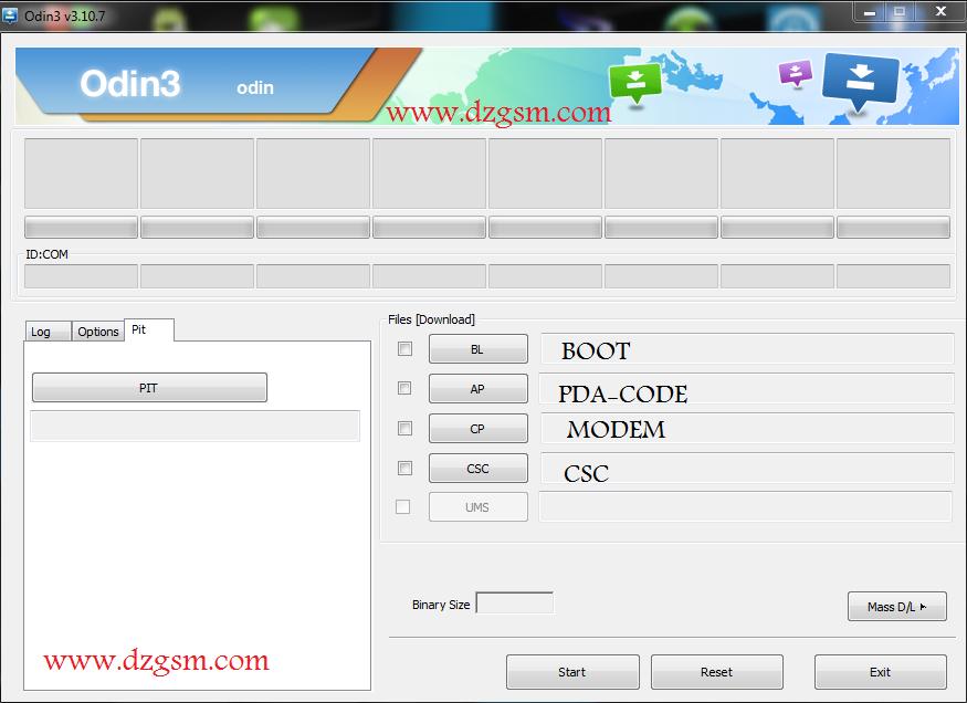 اخر اصدار من برنامج التفليش Odin V3.10.7