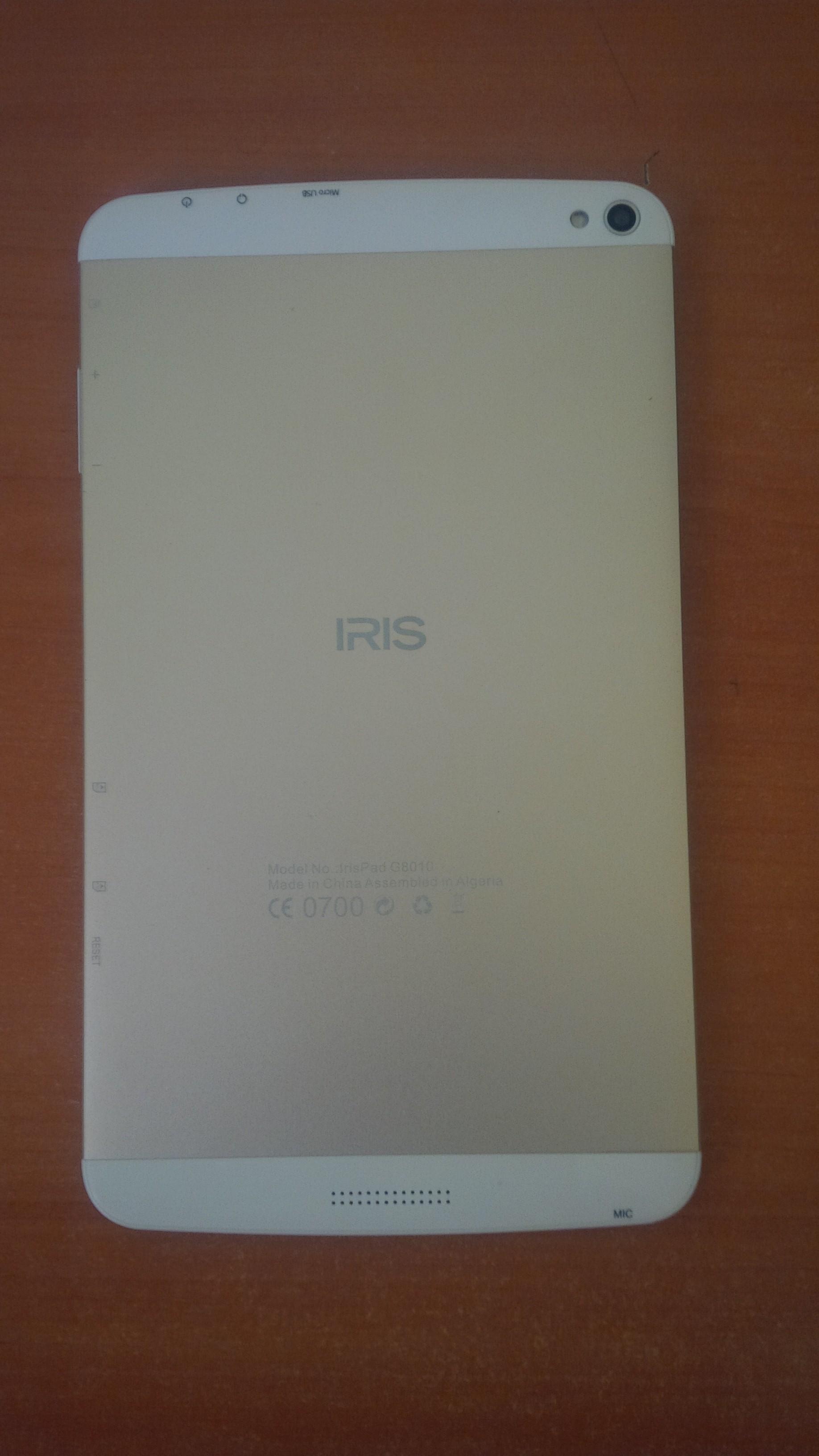 مساعدة في ما يخص Tablette Irispad G8010
