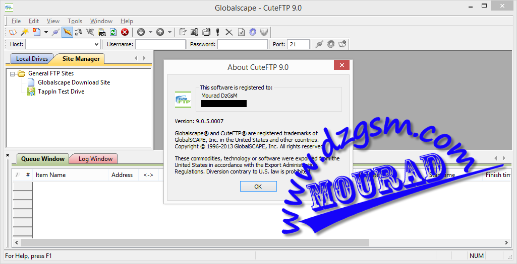CuteFTP Pro 9.0.5.0007