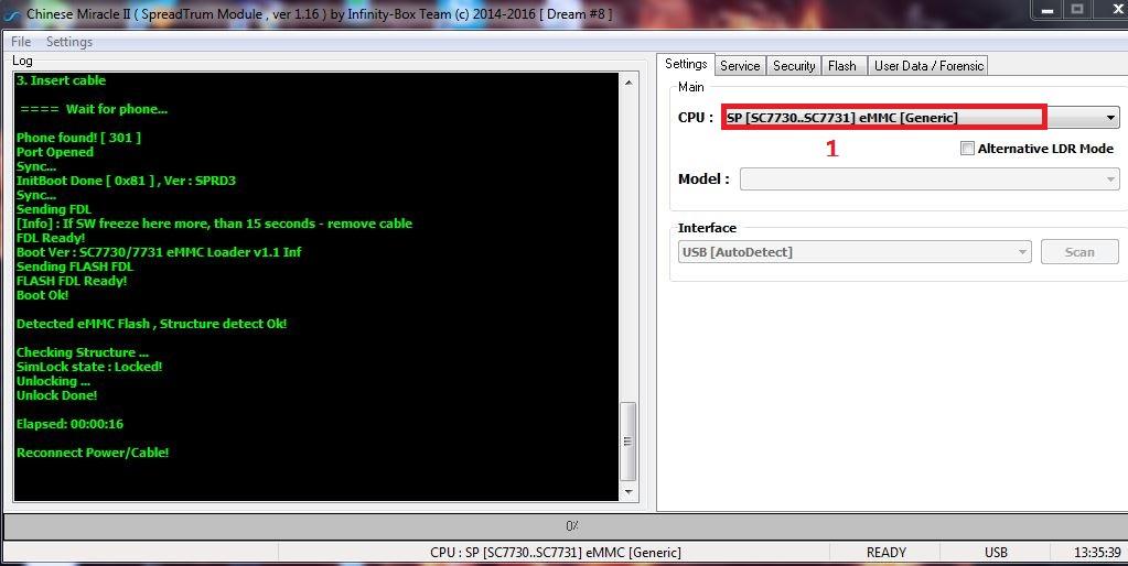 فك شيفرة كوندور G4s بواسطة InfinityBox CM2SPD