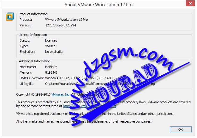 VMware Workstation Pro 12.1.1 Build 3770994