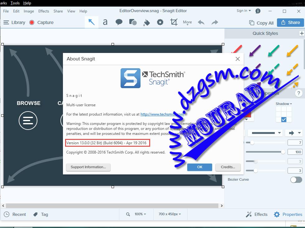 TechSmith SnagIt 13.0.0 Build 6094