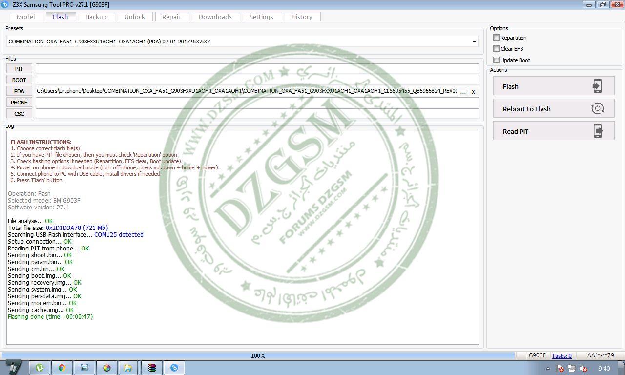 دونجريد + unlock FRP لهاتف 6.0.1 SAMSUNG S5 NEO G903F