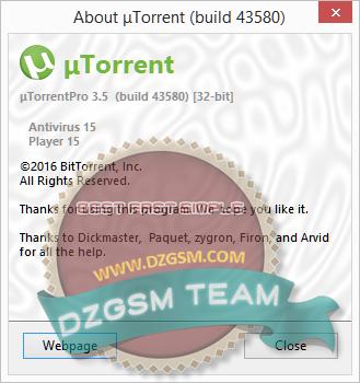uTorrentPro بدون صداع الإشهارات (آخر تحديث 3.5.0 Build 43580 )