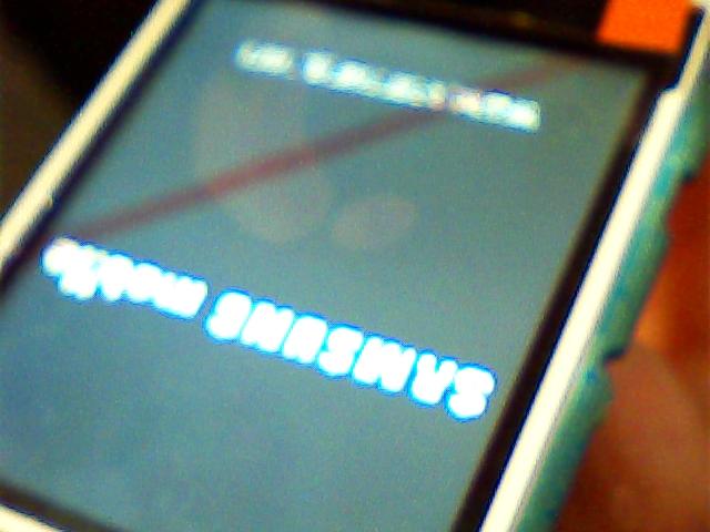 حل مشكلة الشاشة البيضاء في samsung b312e