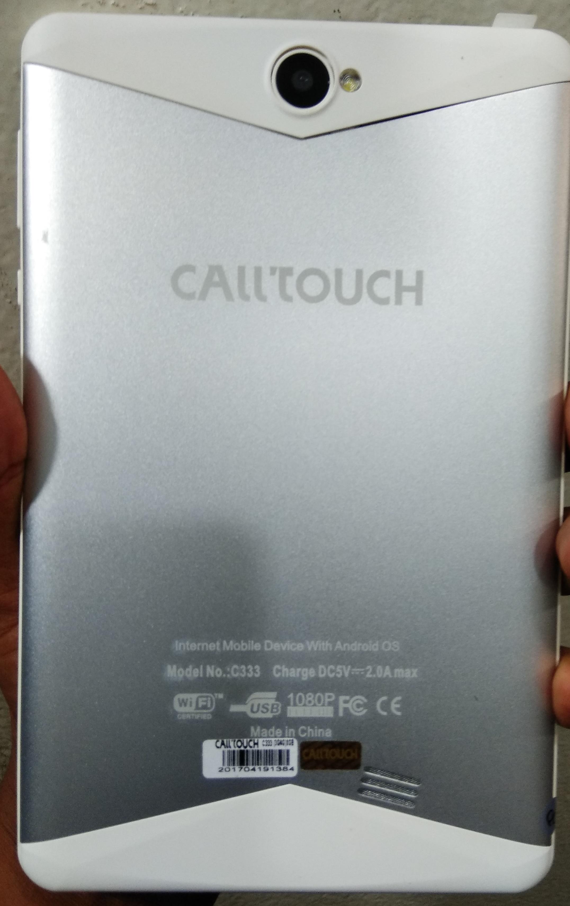 البحث عن الفلاشة المفقودة لجهاز  calltouch c333 بصيغة pac