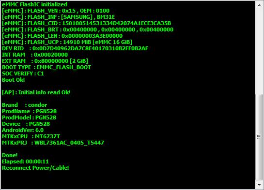 طلب فلاشة لهاتف Condor P6 Pro LTE