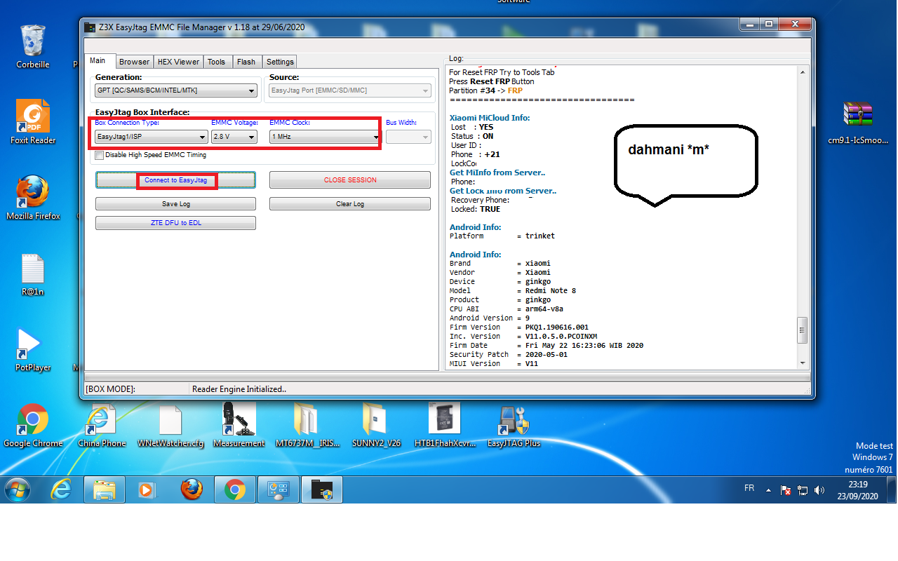 حصريا حذف كونت  Remove mi cloud Redmi note 8 Easy JTAG